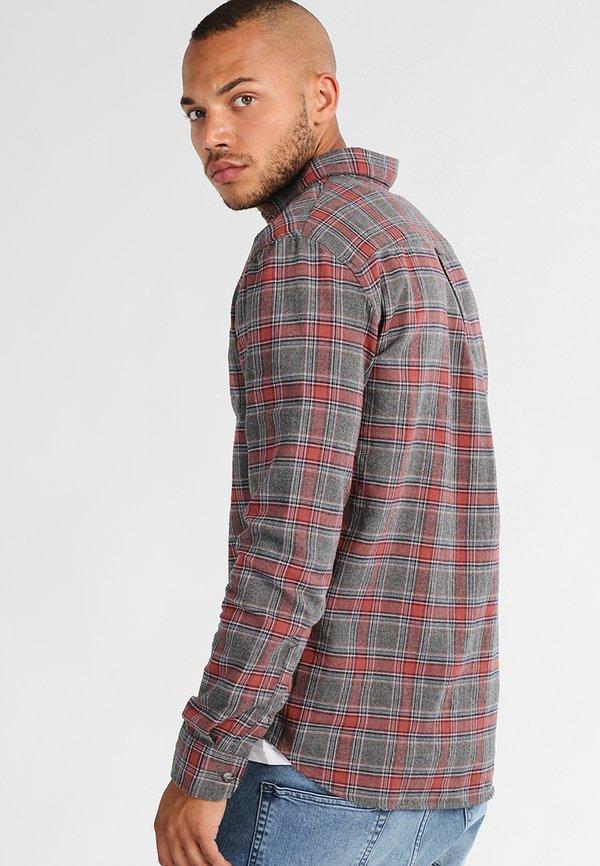 Pier One Koszula - grey/coral/szary melanż Odzież Męska YXFY