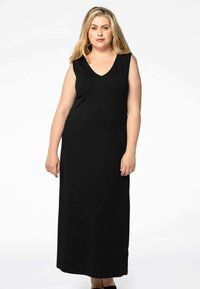 Yoek - MIT V-AUSSCHNITT - Maxi dress - black - 0