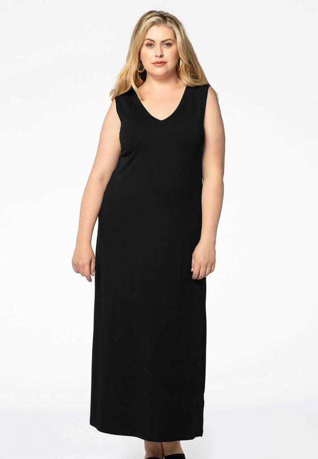MIT V-AUSSCHNITT - Robe longue - black