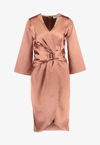 Closet - PLEATED WRAP DRESS - Day dress - rose gold - 5