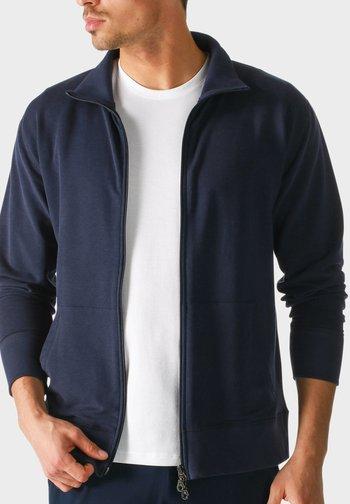 MIT REISSVERSCHLUSS - Zip-up sweatshirt - blue