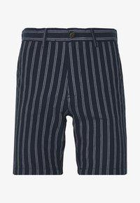Burton Menswear London - CHARCOAL STRIPE BELTED OXFORD - Shorts - grey - 0