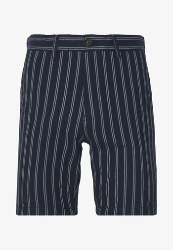 CHARCOAL STRIPE BELTED OXFORD