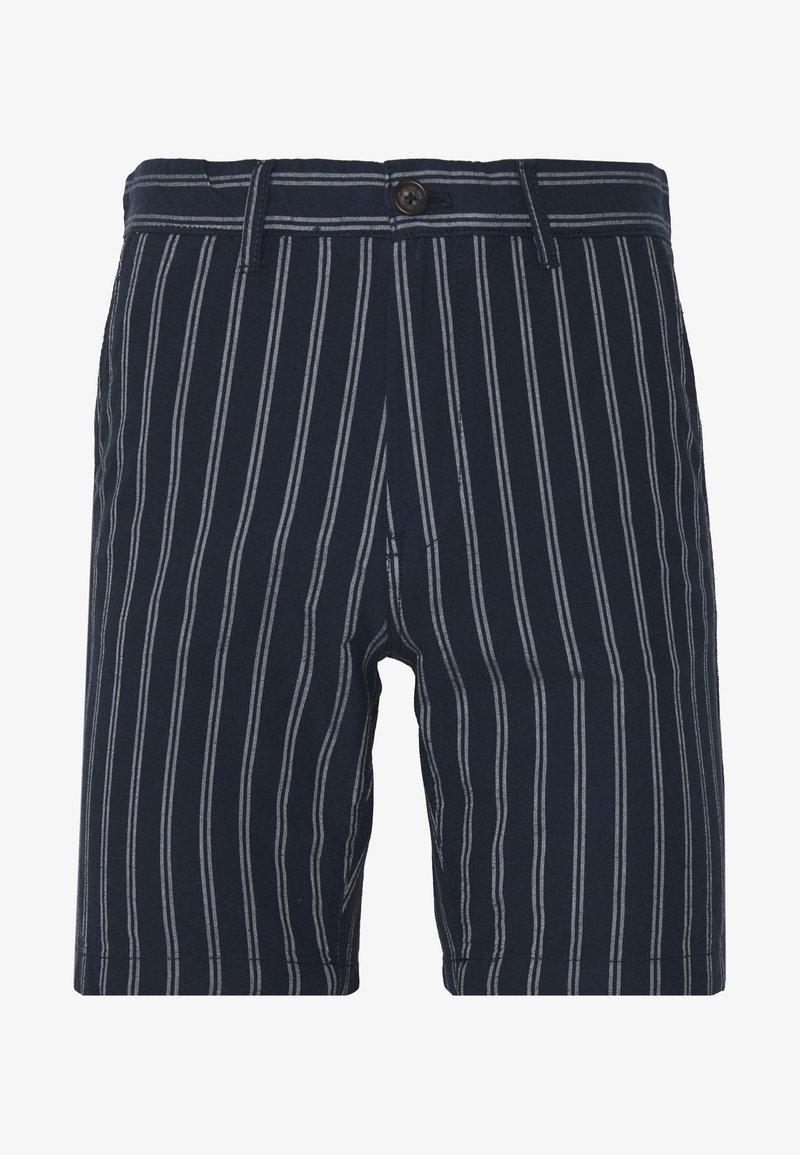Burton Menswear London - CHARCOAL STRIPE BELTED OXFORD - Shorts - grey