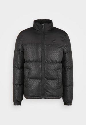 PRINTED CROP BUBBLE - Lehká bunda - black