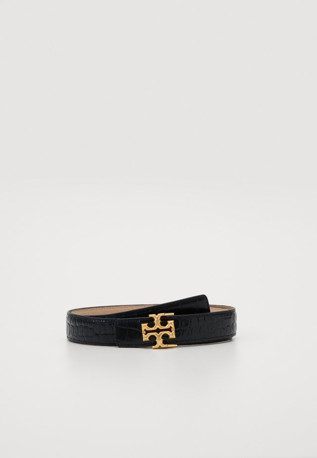 KIRA EMBOSSED LOGO BELT - Belte - black