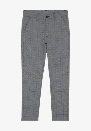 DUDE CHECK - Suit trousers - blue