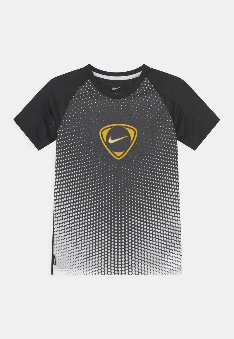 Nike Performance - ACADEMY UNISEX - Print T-shirt - black/white