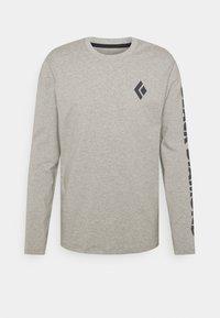 Black Diamond - LOGO SLEEVE TEE - Långärmad tröja - nickel dune heather - 0
