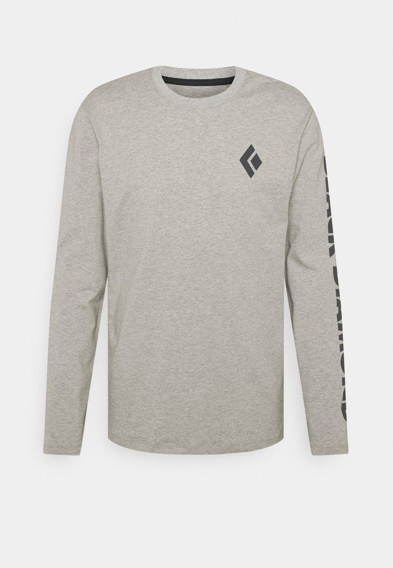Black Diamond - LOGO SLEEVE TEE - Långärmad tröja - nickel dune heather