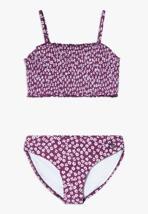 SMOCKED SET - Bikini - purple ditsy