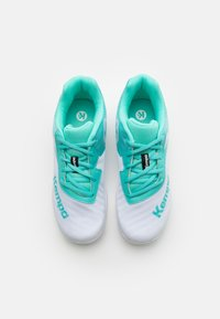 Kempa - WING 2.0 JUNIOR UNISEX - Handball shoes - white/turquoise - 3