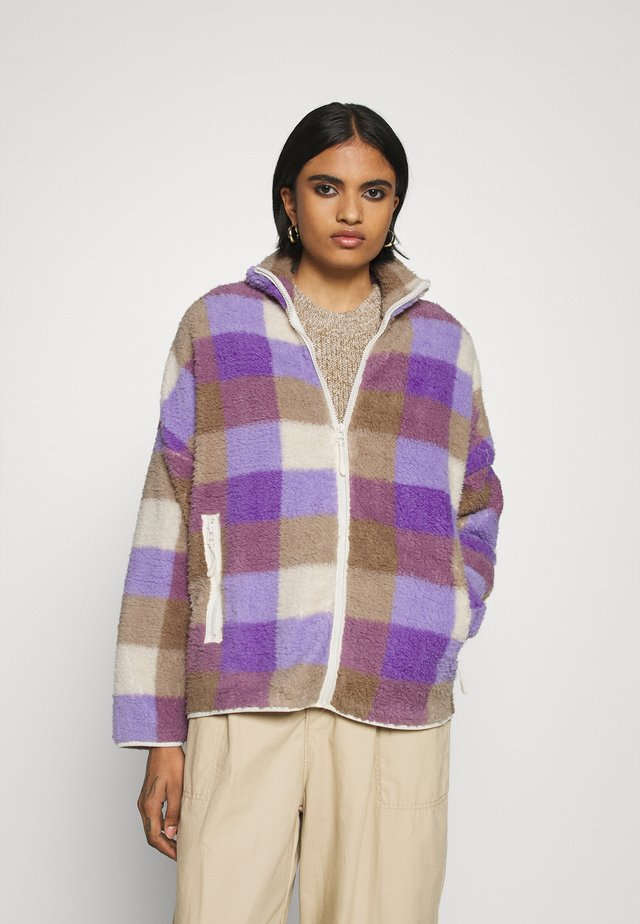 GAIA - Summer jacket - purple/beige