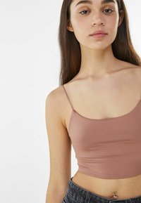 Bershka - Top - brown - 3