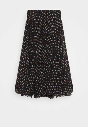 A-line skirt - multicolor/black