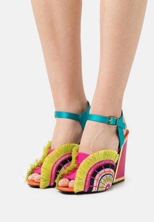 ARIEL - Sandály na vysokém podpatku - lagoon/multicolor