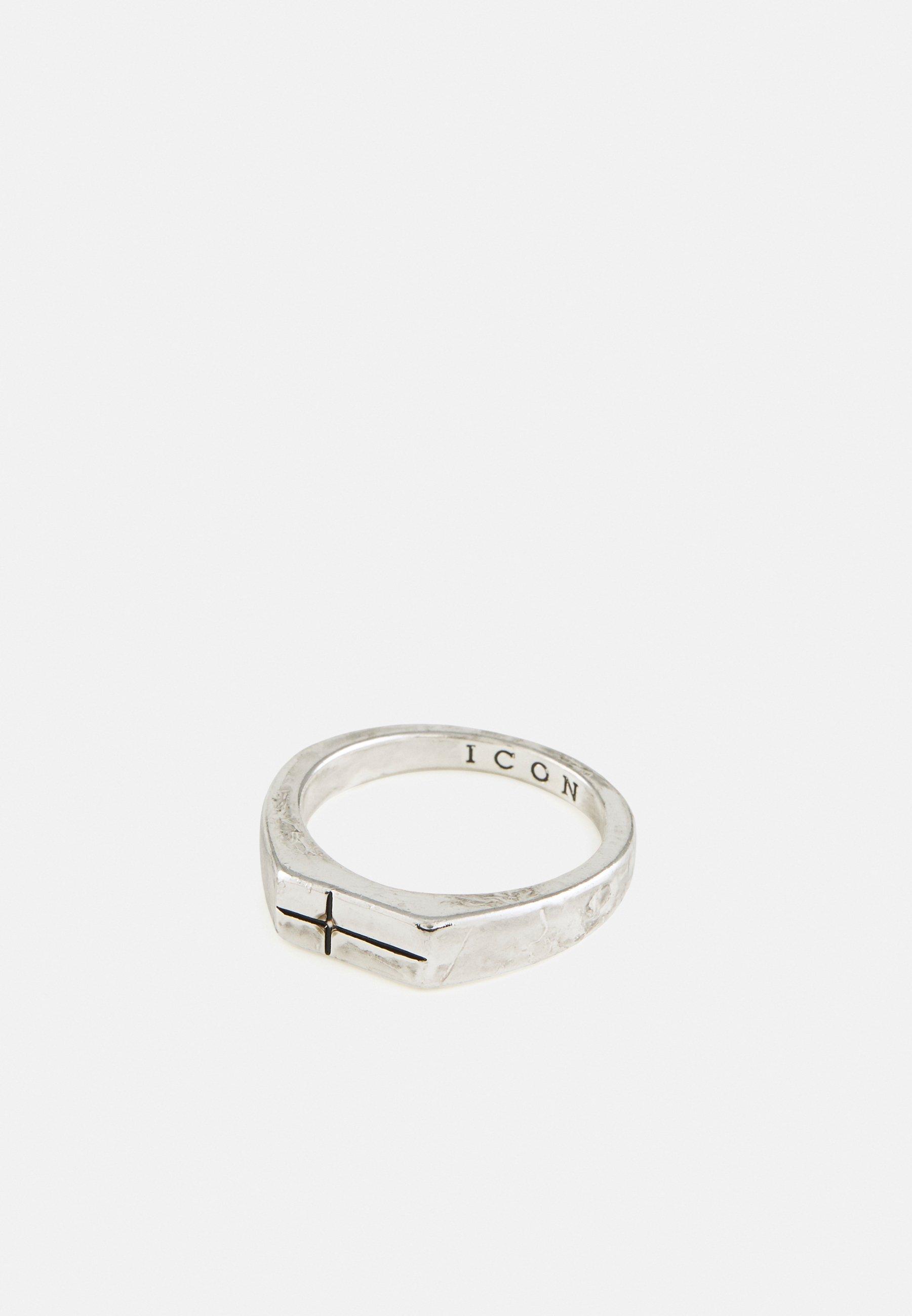 Men RECTANGLE CROSS - Ring