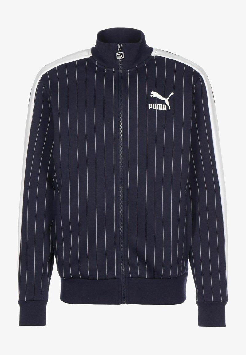 Puma - PINSTRIPE - Zip-up sweatshirt - peacoat
