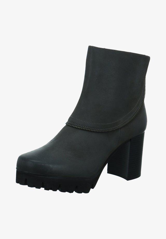 Platform ankle boots - grau