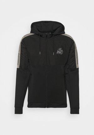 DUNWEN ZIP THROUGH HOOD - Zip-up sweatshirt - black