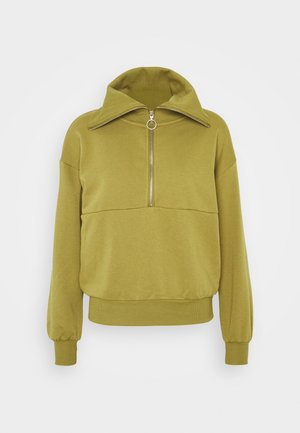 VMNATALIE ZIPPER - Sweatshirt - green moss