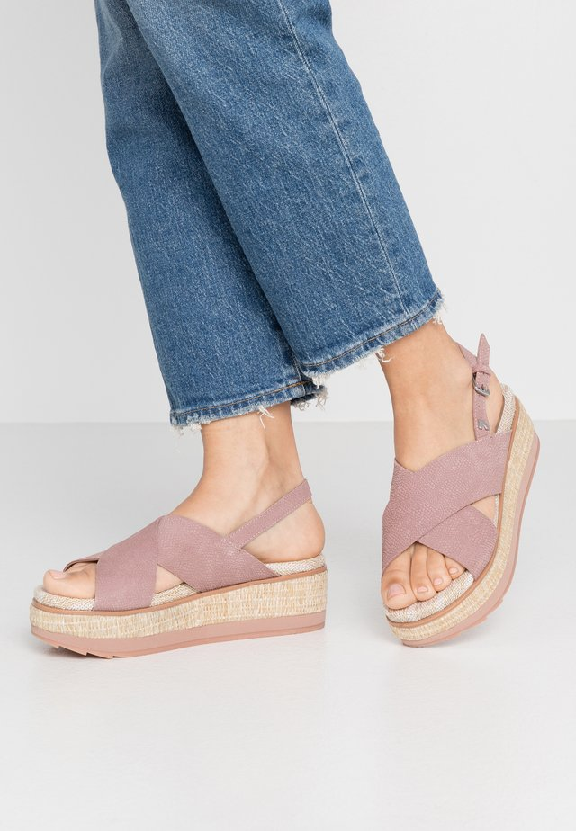 RUSSI - Platform sandals - pink