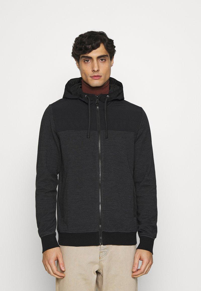 s.Oliver - Zip-up hoodie - black