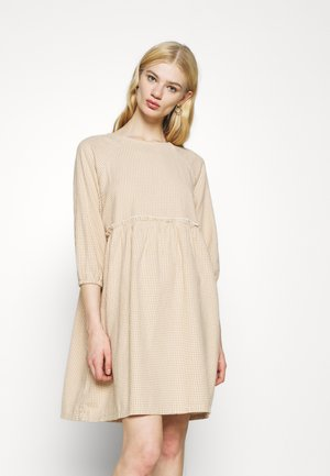 DRESS - Day dress - beige/medium dusty unique