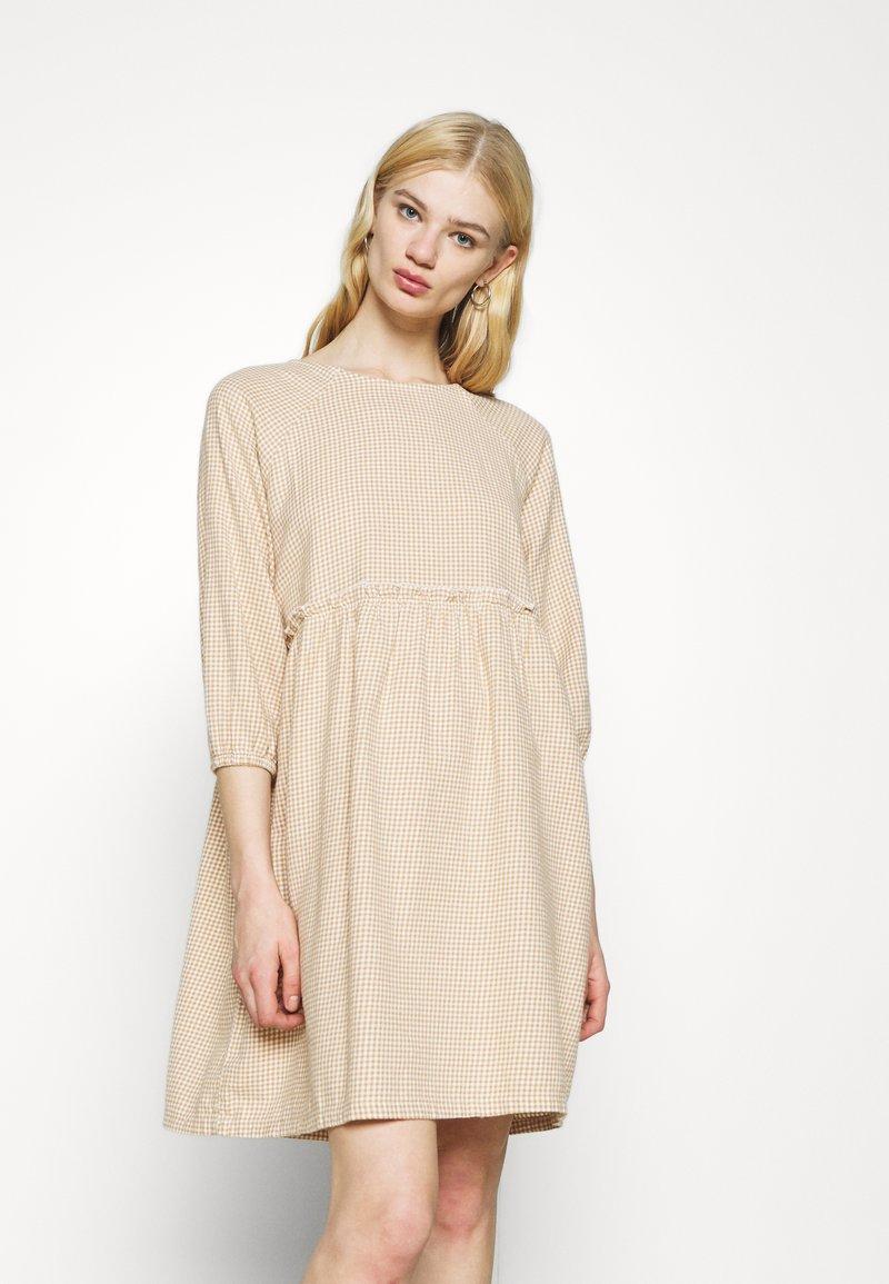Monki - DRESS - Day dress - beige/medium dusty unique