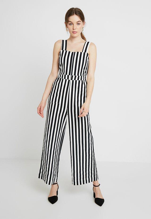 JANE ONEPIECE STRIPE - Jumpsuit - black/white