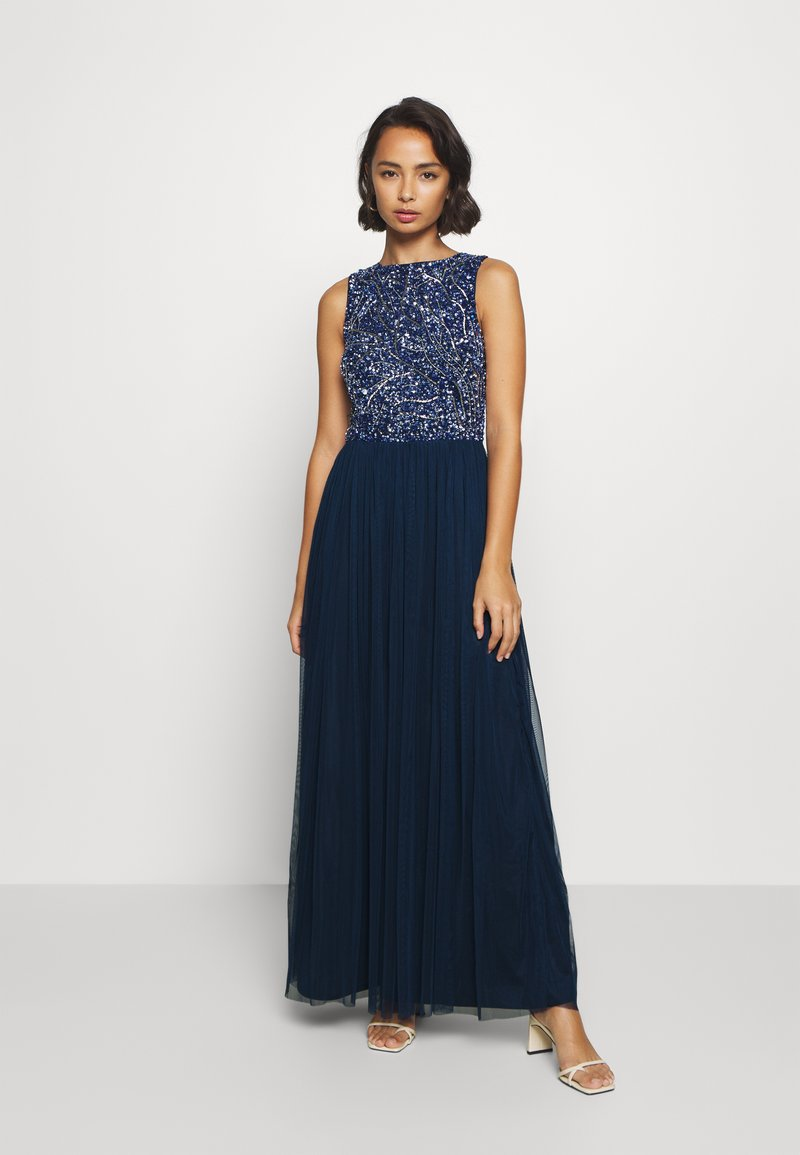 Lace & Beads Petite - PICASSO LEAF MAXI - Iltapuku - navy