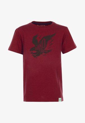 T-shirt med print - red
