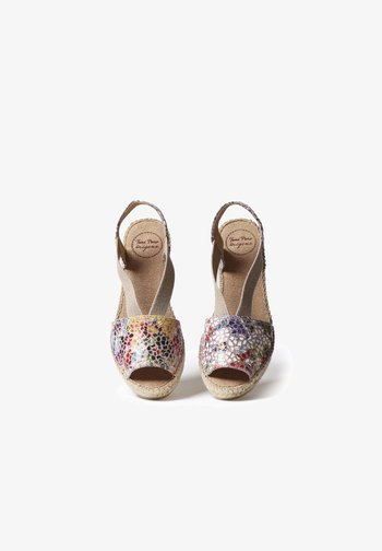 TEIDE - Wedge sandals - taupe