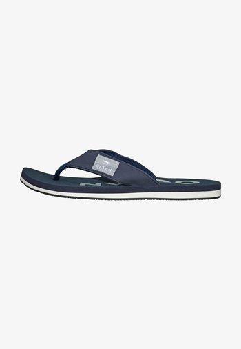 Pool shoes - dunkelblau/weiß