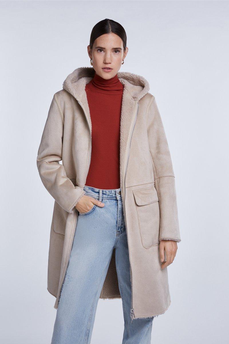 SET - Short coat - sand
