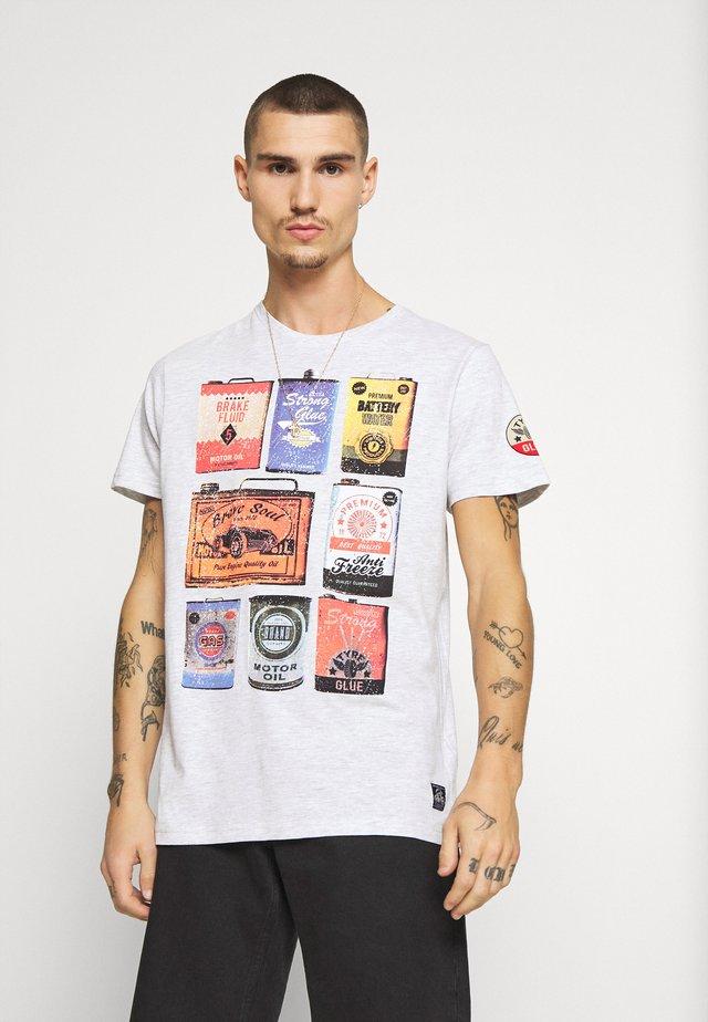 T-shirt print - ecru marl
