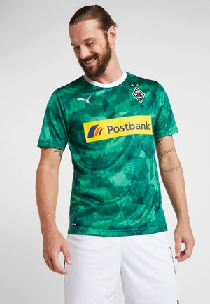 BORUSSIA MÖNCHENGLADBACH THIRD SHIRT REPLICA WITH SPONSOR - Fanartikel - green/puma black