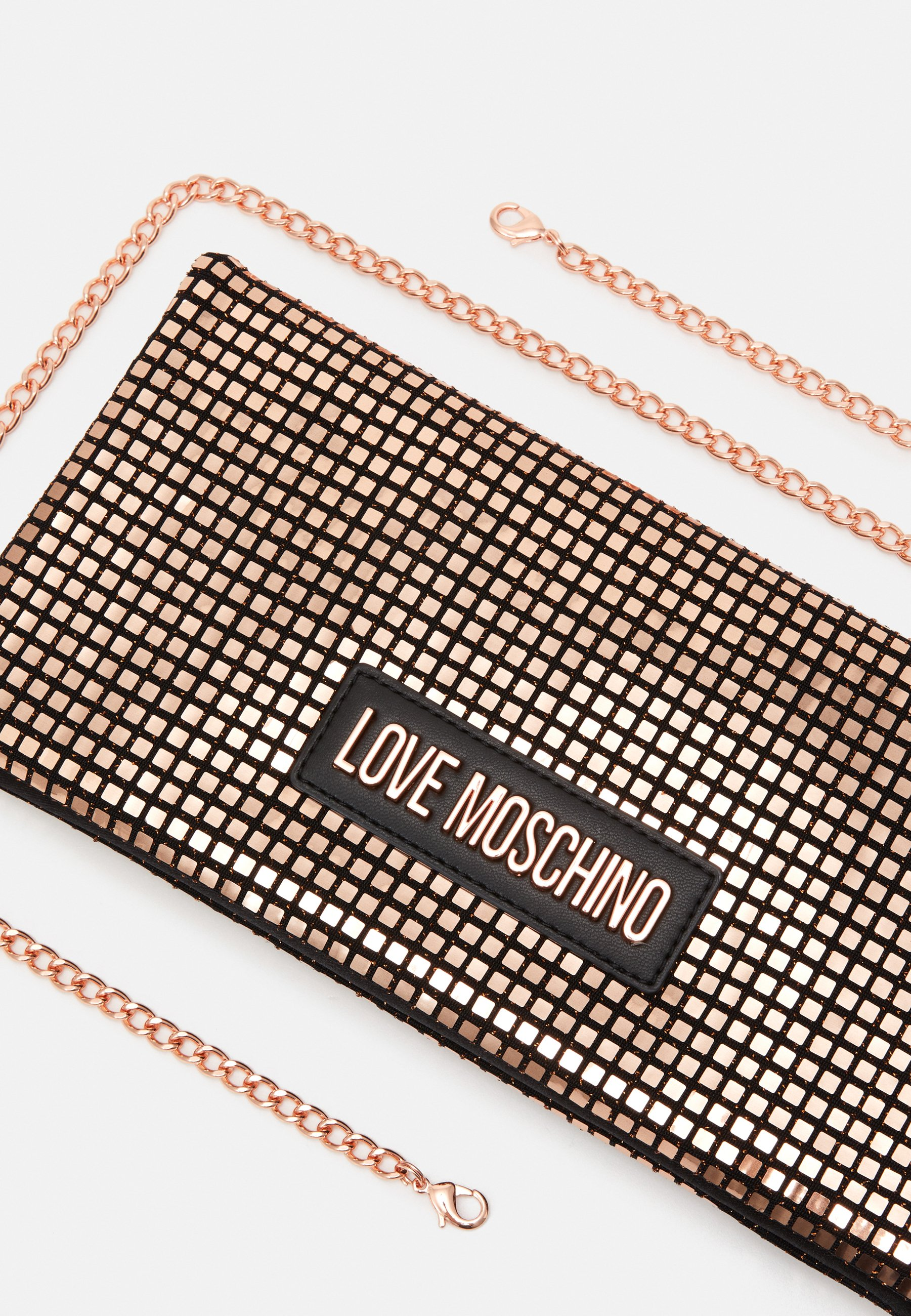Love Moschino EVENING BAG - Clutch - copper/kobber MQXDSgisNAMTJXW