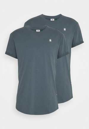 LASH 2 PACK - Basic T-shirt - dark slate