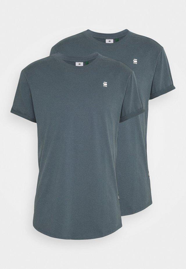 LASH 2 PACK - T-shirt - bas - dark slate