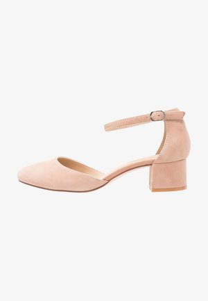 LEATHER CLASSIC HEELS - Decolleté - nude