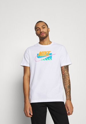BRANDMARKS - Print T-shirt - white/laser orange