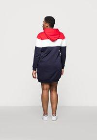 Even&Odd Curvy - Day dress - red/white/dark blue - 2