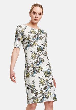 Jersey dress - offwhite gemustert
