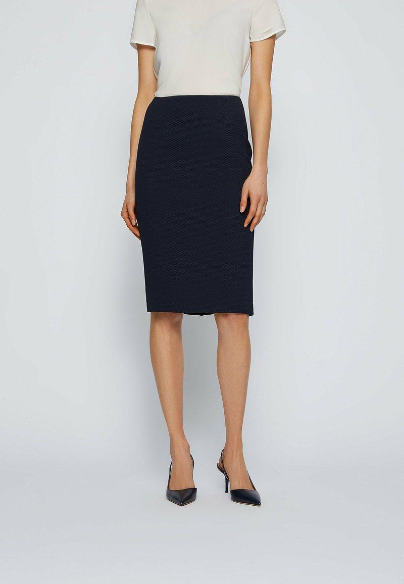 BOSS - Pencil skirt - open blue