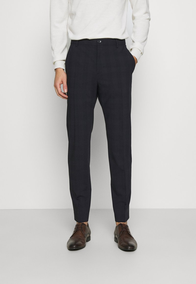 Calvin Klein Tailored - BI-STRETCH SUBTLE CHECK PANT - Trousers - navy