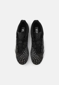 adidas Performance - PREDATOR FREAK .4 FXG - Moulded stud football boots - core black/footwear white - 3