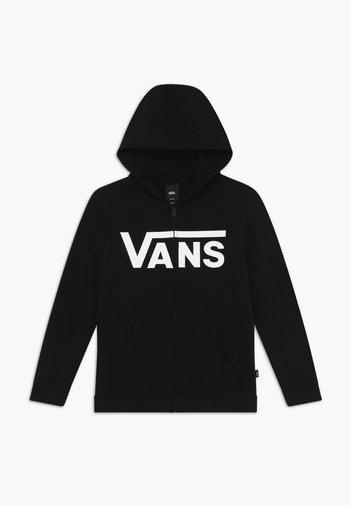 BY VANS CLASSIC ZIP HOODIE II BOYS - Zip-up hoodie - black/white
