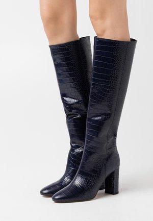 CAVALIER - Kozačky na vysokém podpatku - bleu