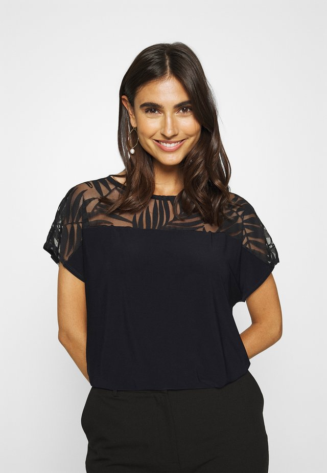 PALM DEVOURE TOP - T-shirt z nadrukiem - black